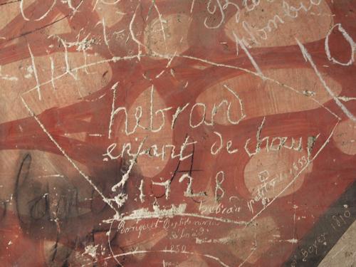 Graffitis datant de 1728