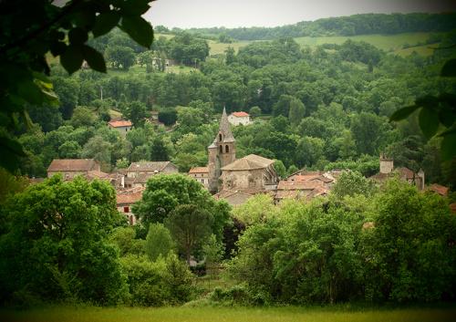 Monestiés-vue du village