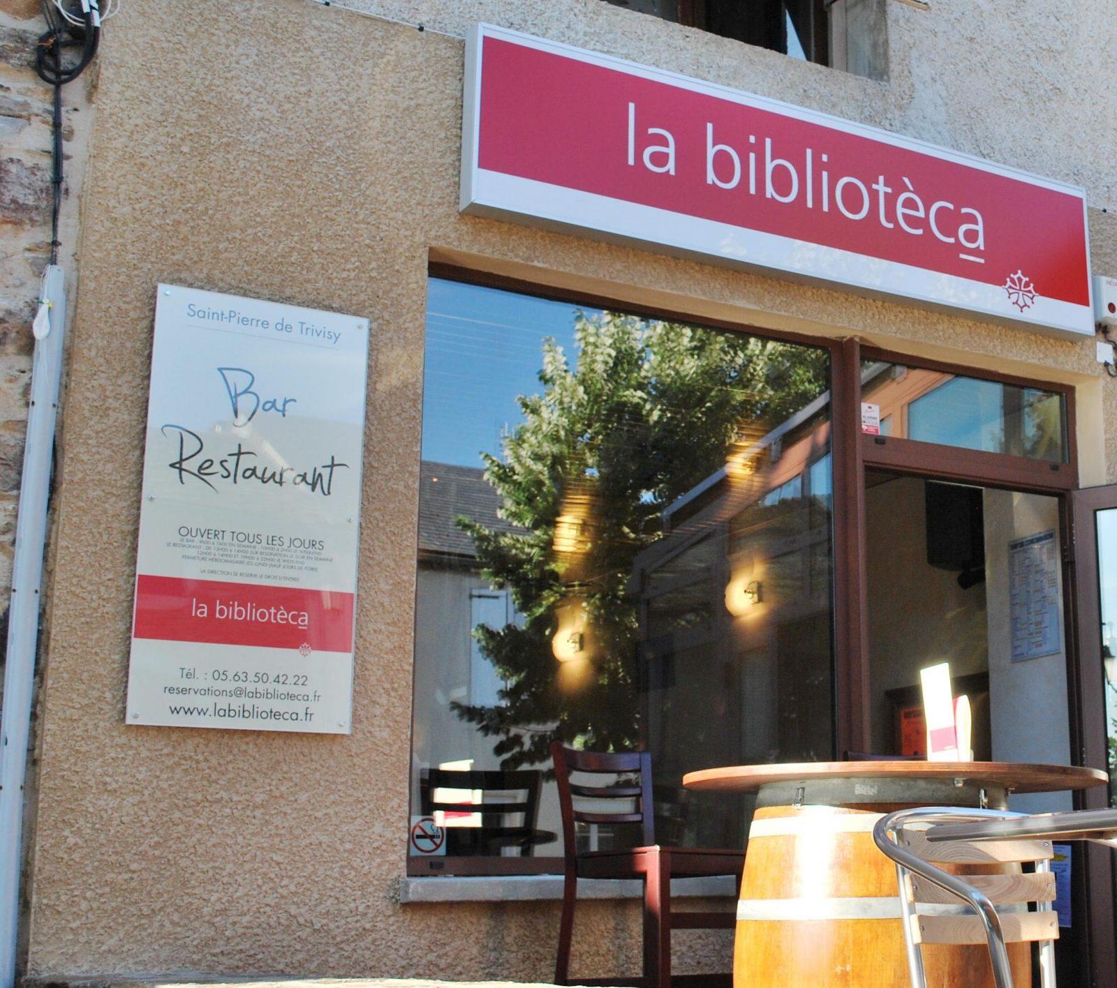 Restaurant La Biblioteca – Saint Pierre de Trivisy
