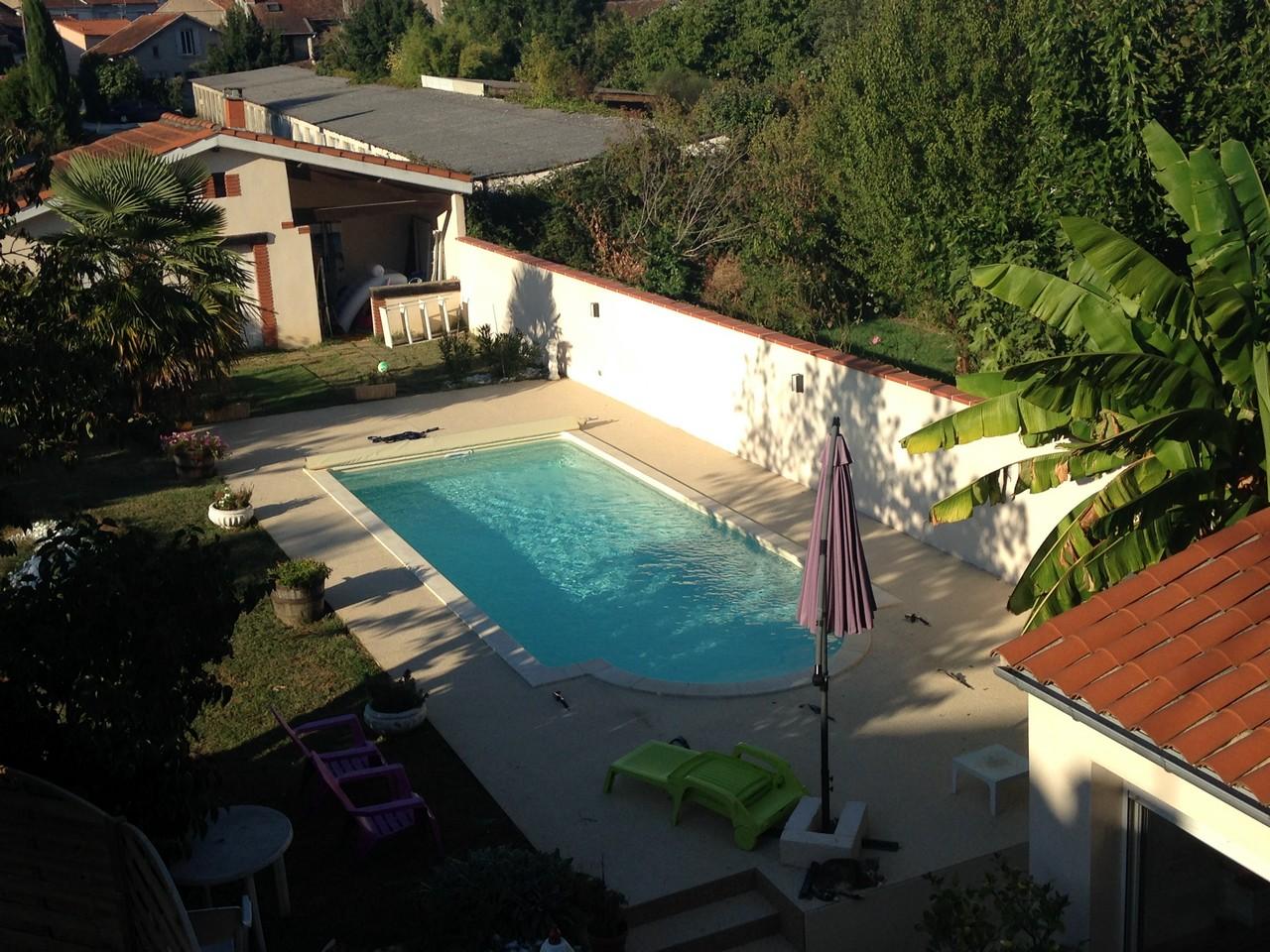 la maison d'Henriette piscine