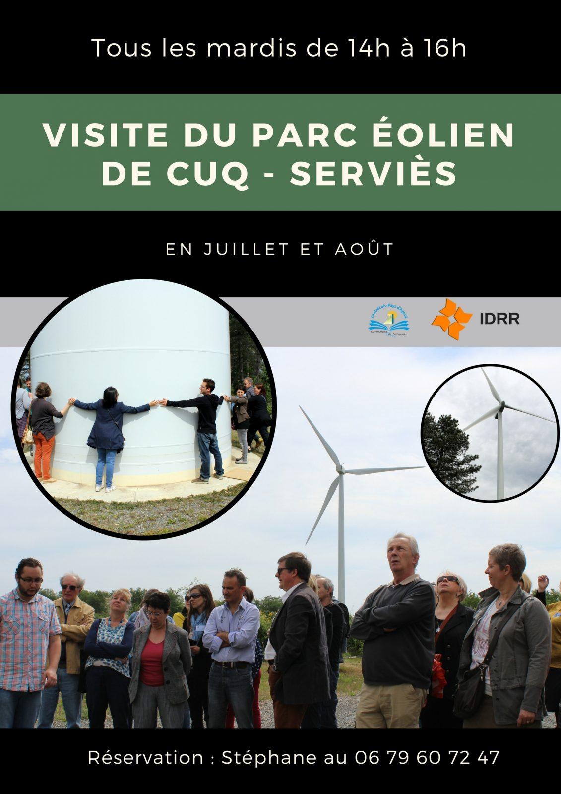 Visite du parc éolien