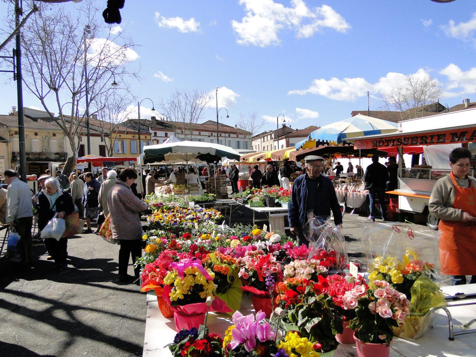 Le célèbre marché de Carmaux