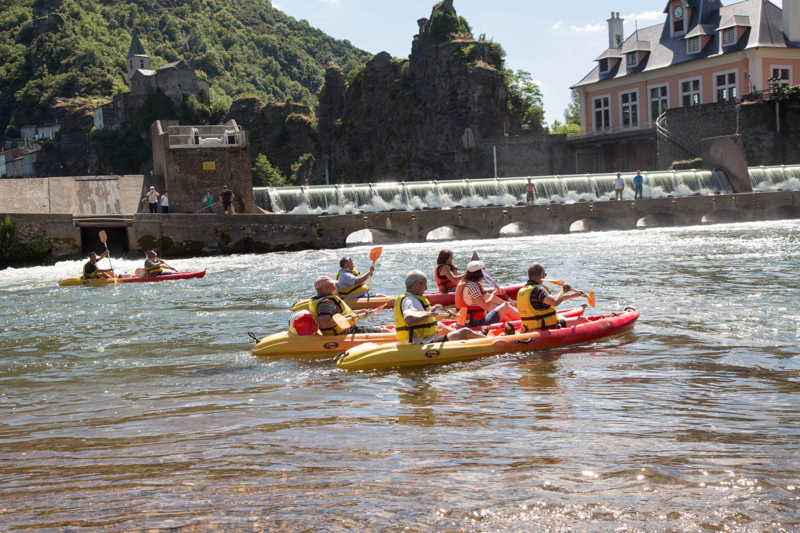 Base de canoë kayak à Ambialet