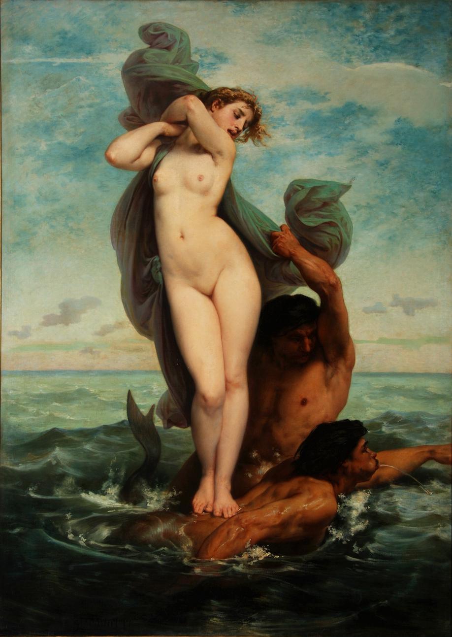 l'Enlèvement d'Amymone (1818-1909) Félix-Henri GIACOMOTTI Huile sur toile