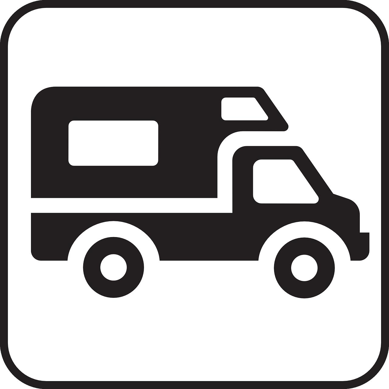 Borne de services camping-car