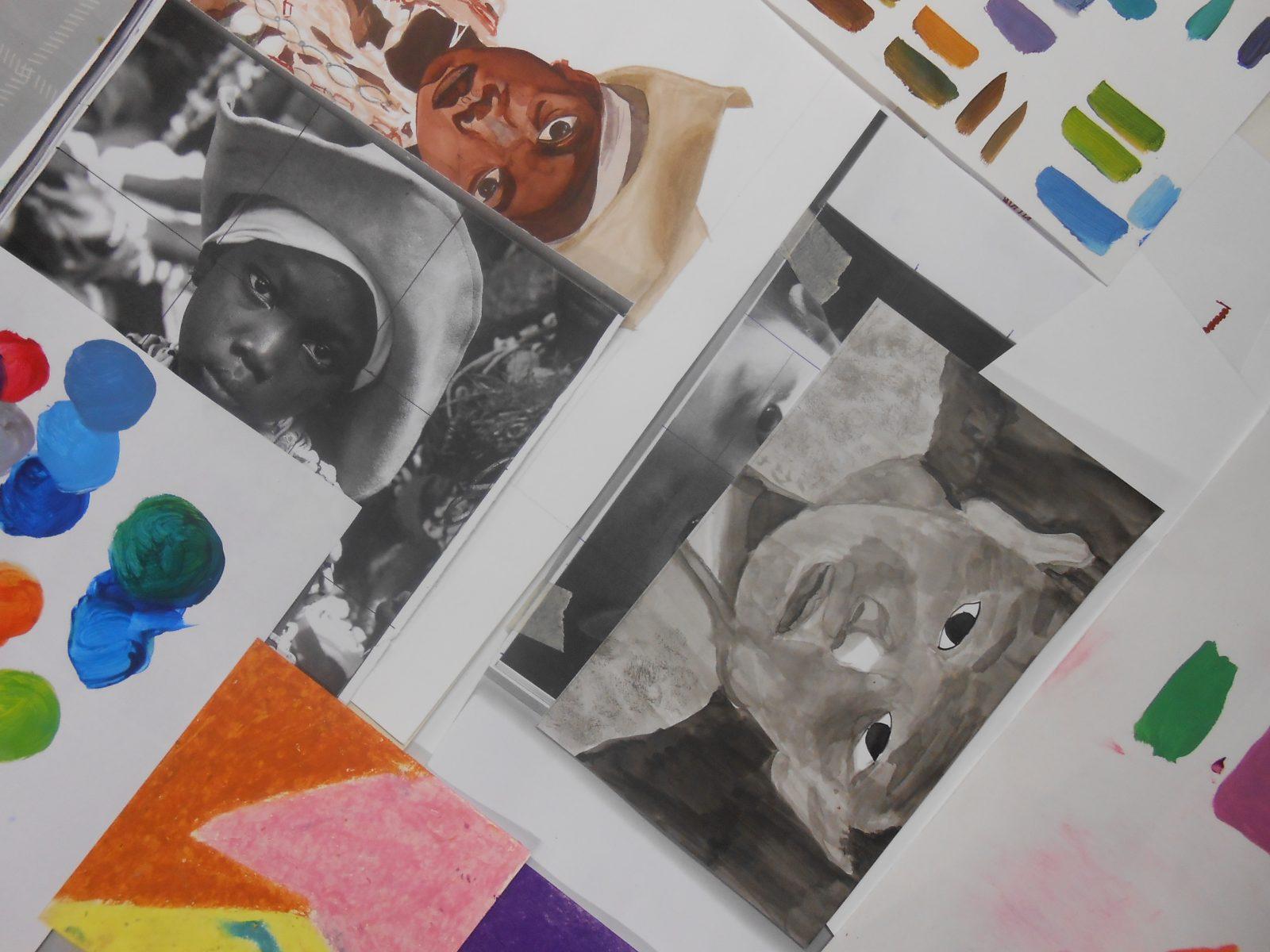 Dessin et peinture à l'Atelier Polymorphe