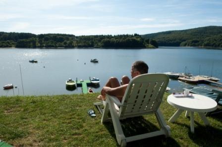 Vue du Camping Le Rouquie du Lac