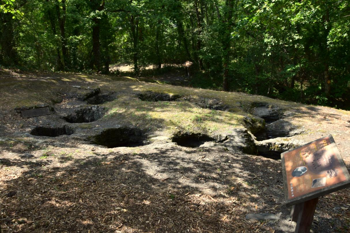 Cuves celtes site archéologique de Ste Juliane