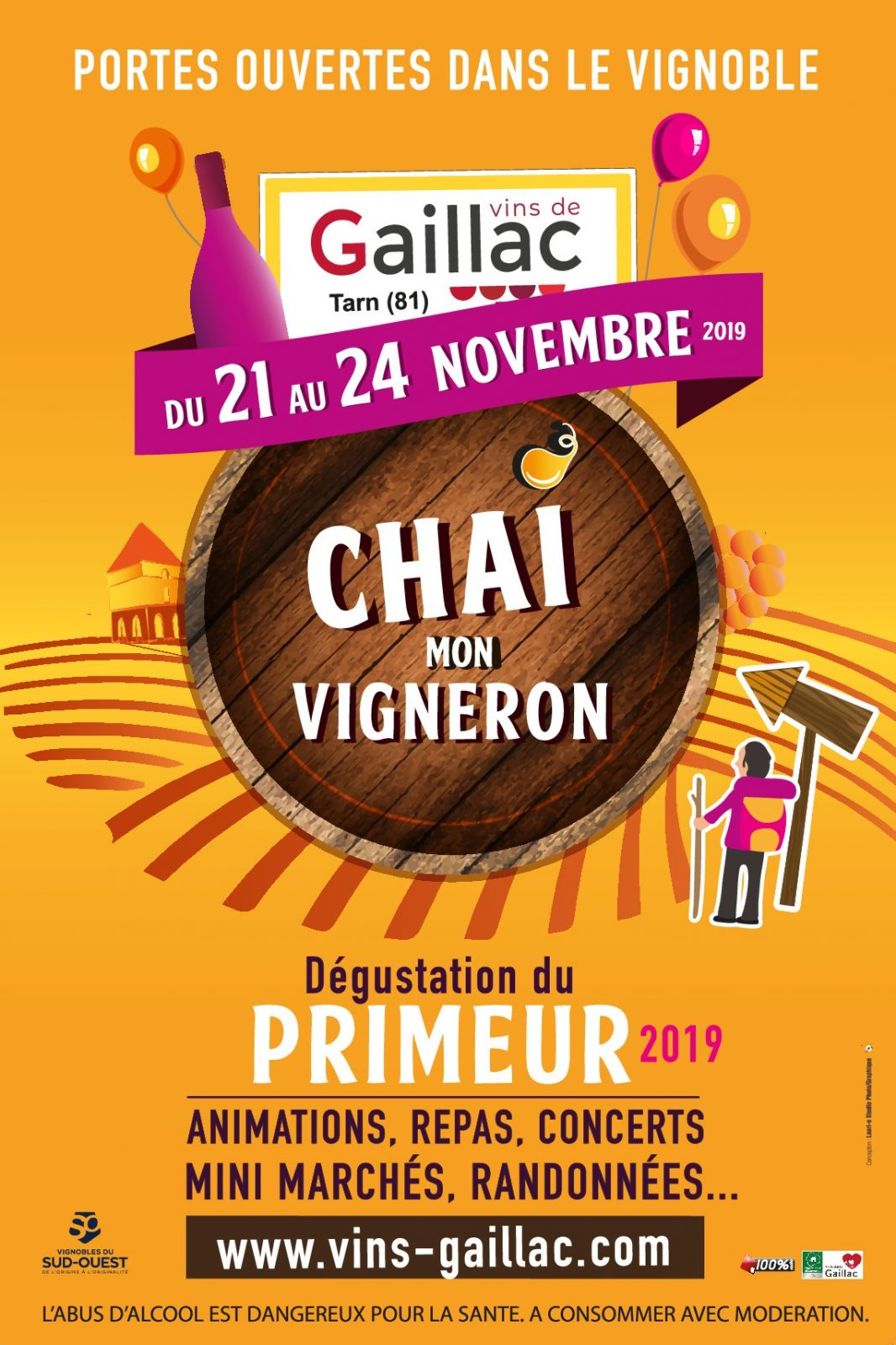 Affiche CHAI Mon Vigneron