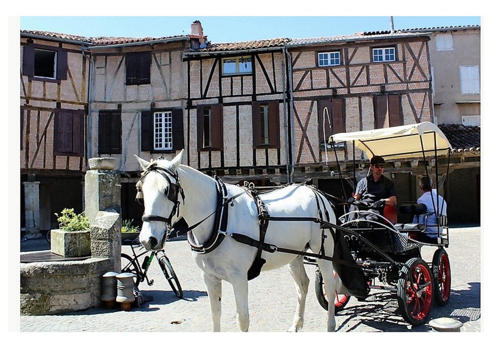Place centrale, à Lautrec