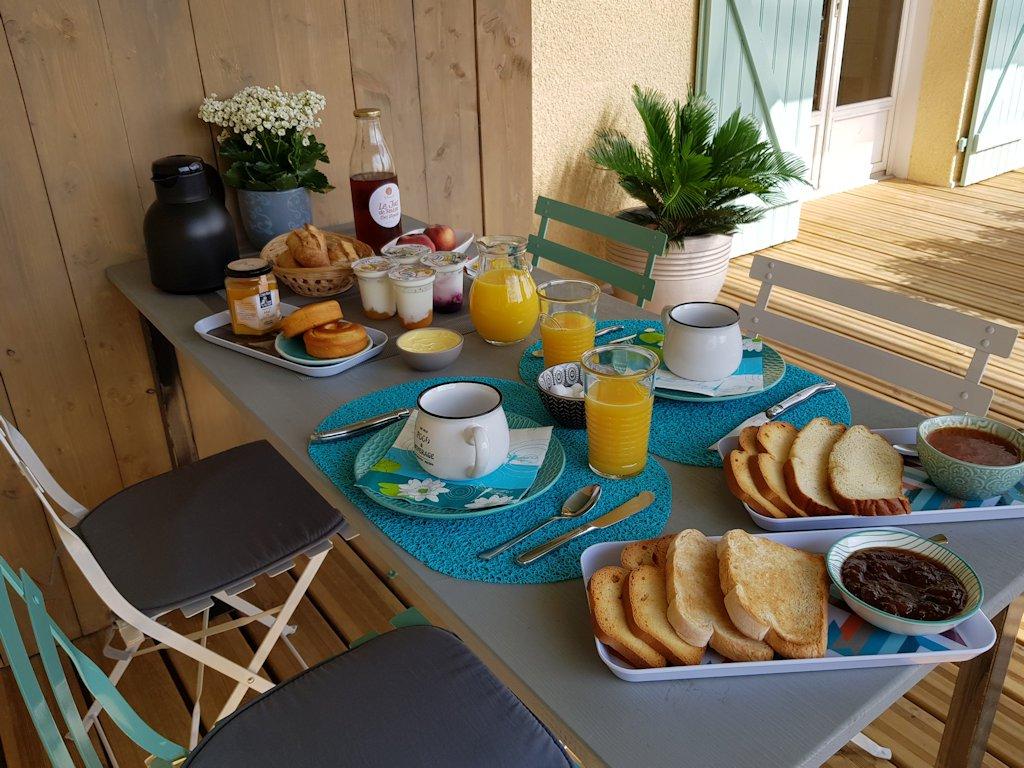 Les terrasses d'Aiguelèze ~ Le petit-déjeuner