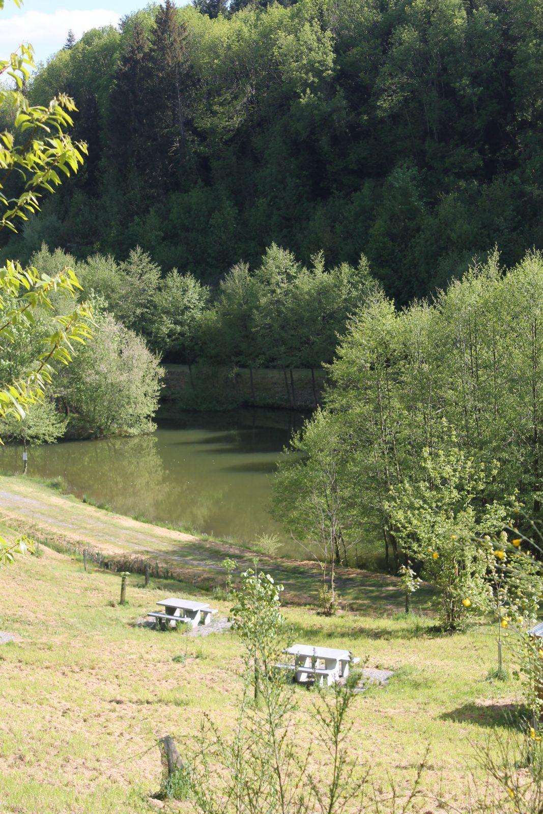 Aire de pique-nique lac de la Broussonnié