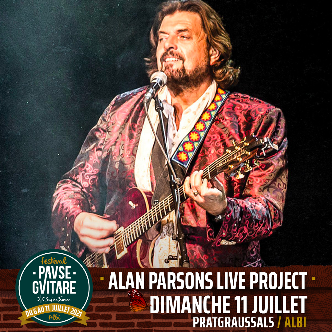 alan parsons live project pause guitare albi 2021