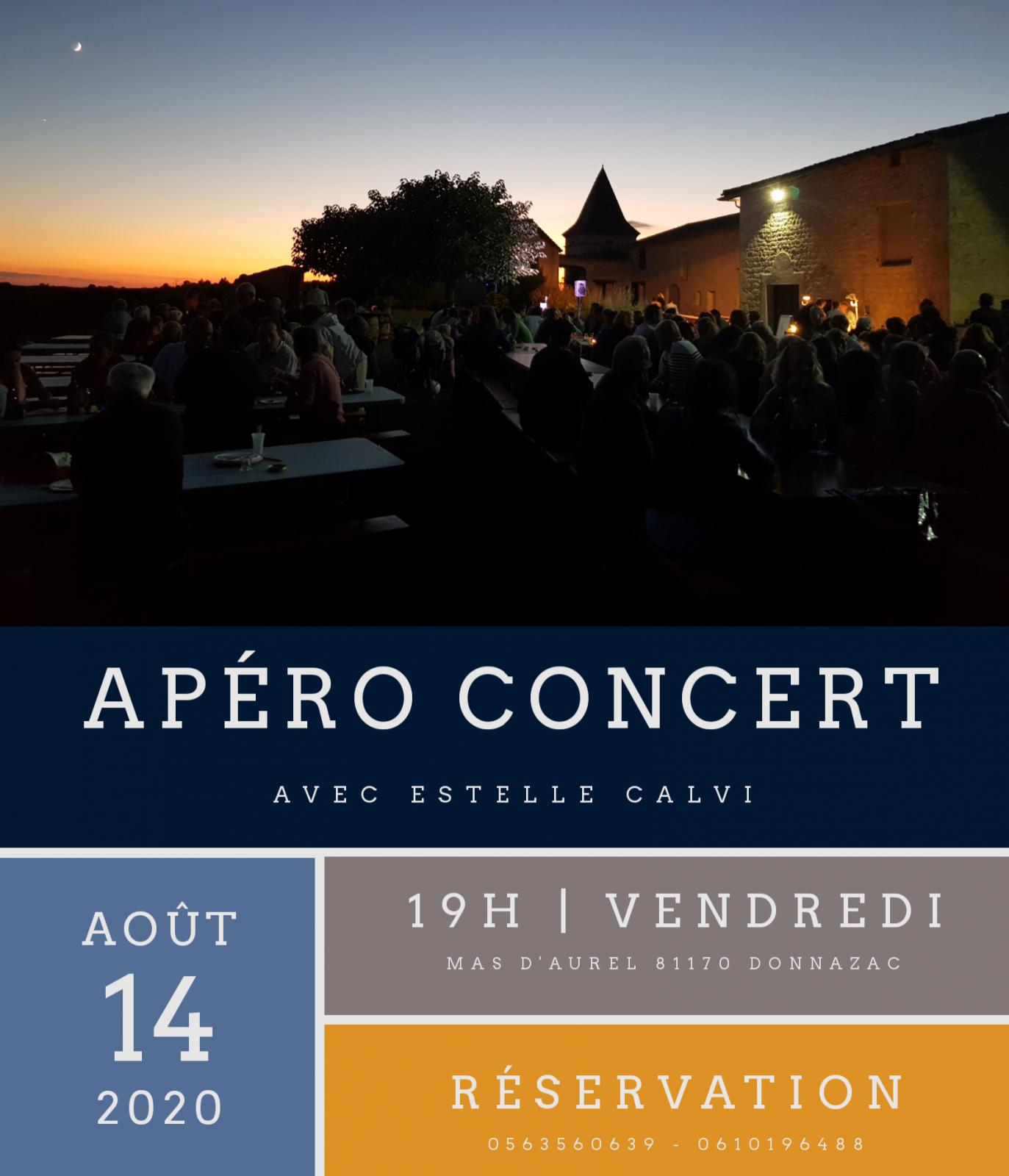 Apéro Concert au Mas d'Aurel