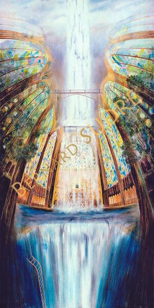 2 Peinture de Bernard SUDRE – Cordes sur Ciel