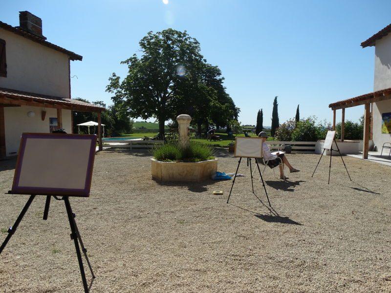 Cours de peinture Gîte et chambres d'hôtes Résidence La Salamandre