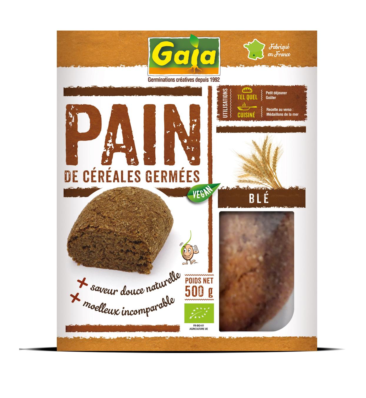 Pain blé germé 500g