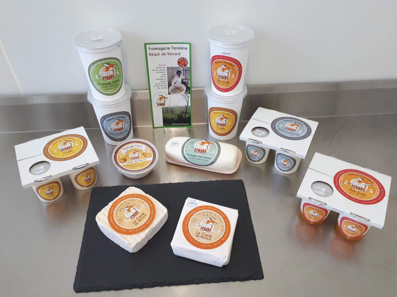 Produits proposés à la ferme