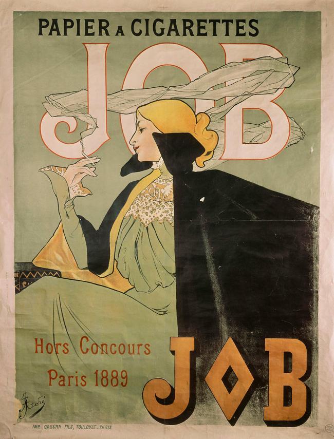 Affiche Job papier à cigarette